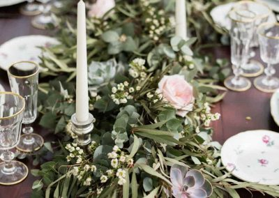 Botanical style wedding in Cortona